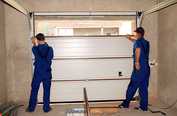 manual garage door installation
